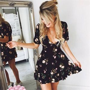 ☆ Boho Floral Mini Dress ☆